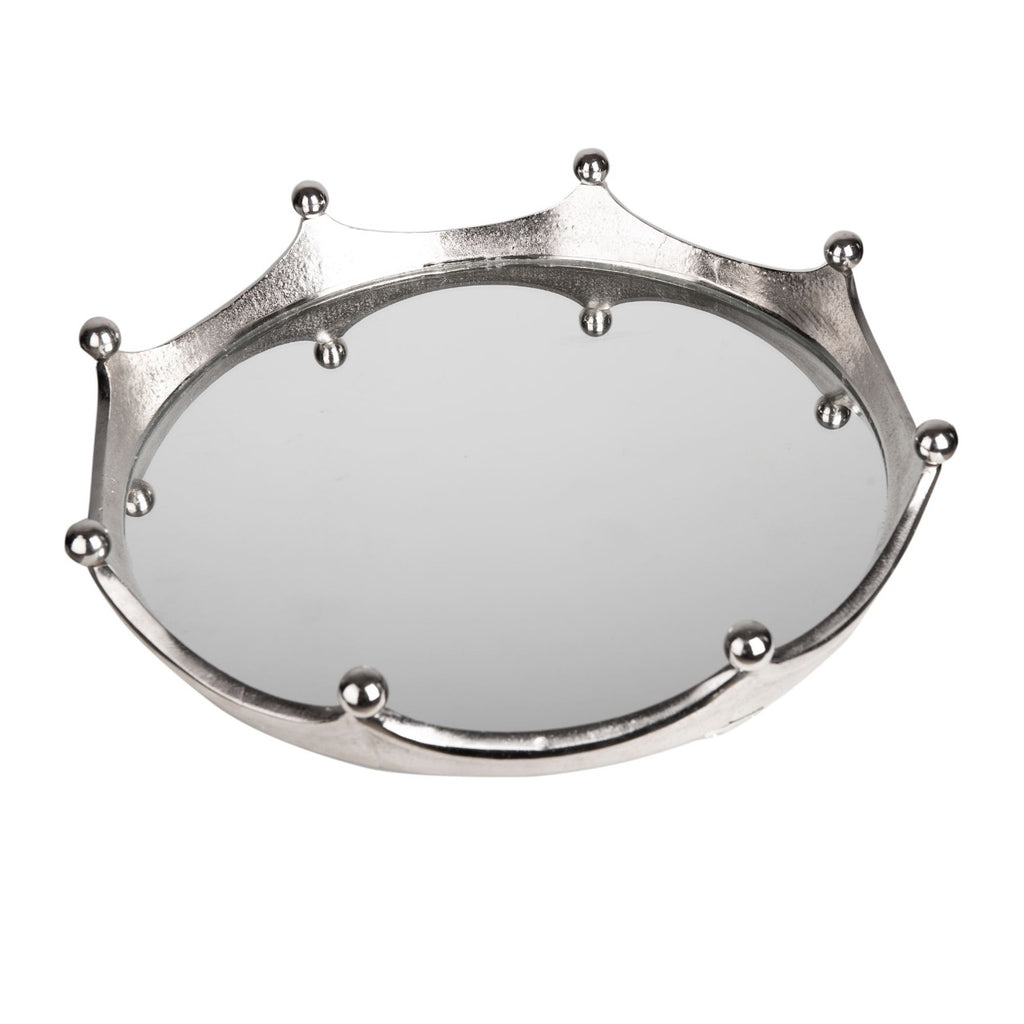 Mirror Serving Tray - Crown