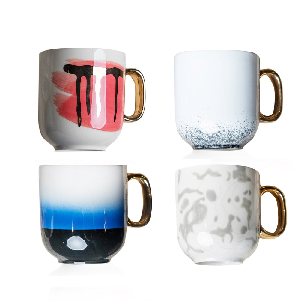 Premium Porcelain Cups - Chuva - Set Of 4