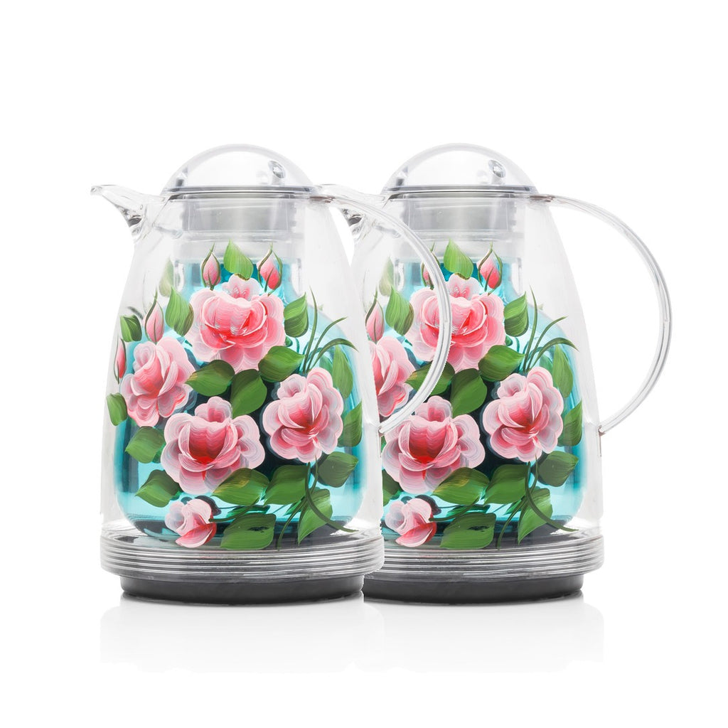 Acrylic Thermos - Flowers - Set Of 2