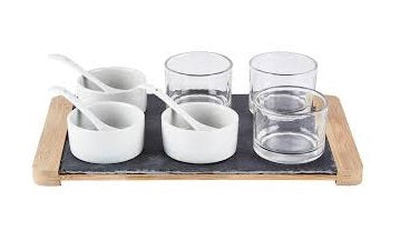 Porcelain Tapas Set - 10 Parts - Slate
