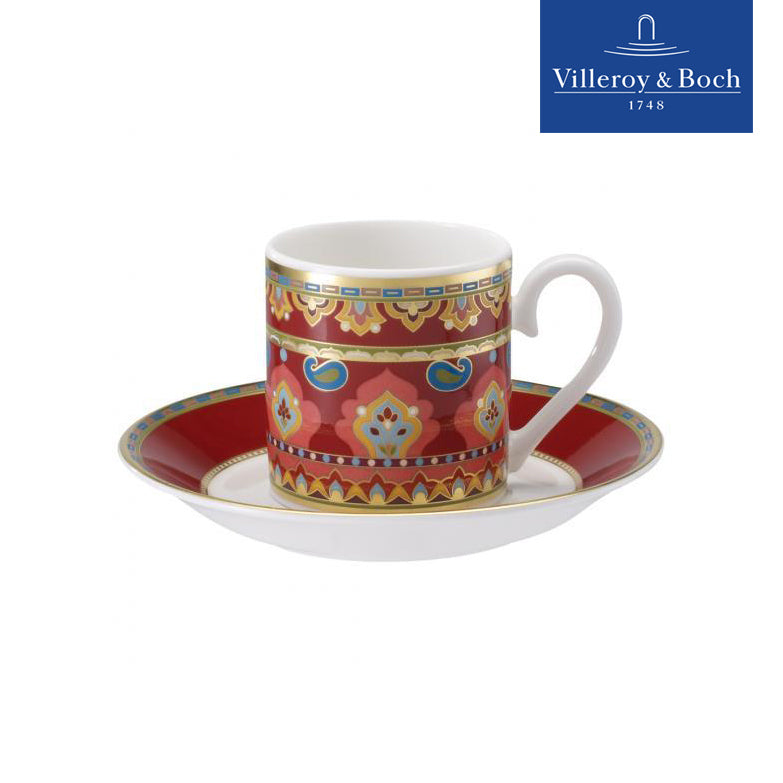 Espresso Or Turkish Coffee & Saucer Set - 6 People- Samarkand Rubin