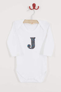 Magnificent Stanley Bodysuit Personalised Bodysuit Fizz Pop Black Liberty Print