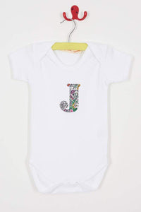 Magnificent Stanley Bodysuit Personalised Bodysuit in London Fields Liberty Print
