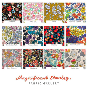 Magnificent Stanley Muslin Name Cotton Muslin in Liberty print