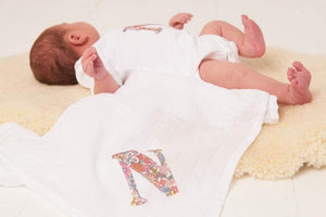 Magnificent Stanley Muslin Personalised Cotton Muslin in Choice of Liberty Print