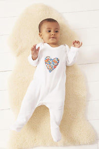 Magnificent Stanley Romper Heart Cotton Romper in choice of Liberty Print