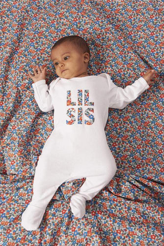 Magnificent Stanley Romper LIL' SIS Cotton Romper in Choice of Liberty print