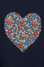 Load image into Gallery viewer, Magnificent Stanley sweatshirt Heart Grey or Navy Sweatshirt in Choice of Liberty Print