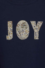 Load image into Gallery viewer, Magnificent Stanley Tee JOY Navy T-Shirt in Adelajda Liberty Print