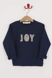 Magnificent Stanley Tee JOY Navy T-Shirt in Adelajda Liberty Print