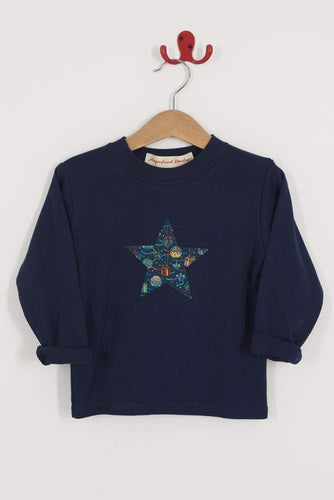 Magnificent Stanley Tee Navy Star T-Shirt in House of Gifts Liberty Print