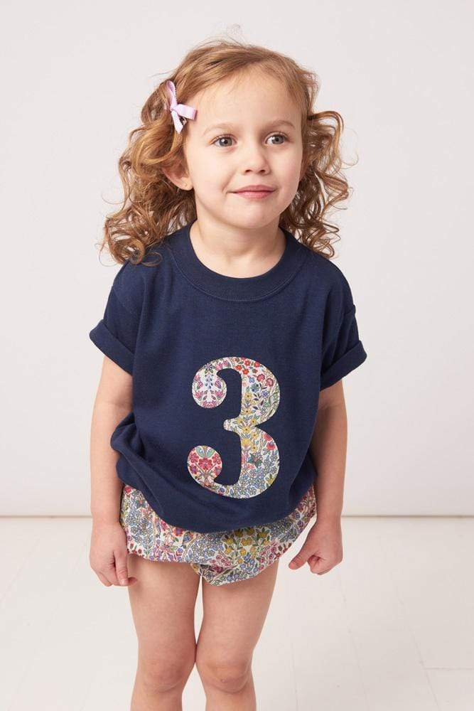 Magnificent Stanley Tee Number Navy T-Shirt in Kensington Park Liberty Print