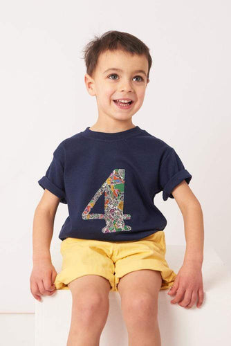 Magnificent Stanley Tee Number Navy T-Shirt in London Fields Liberty Print