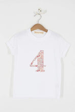 Load image into Gallery viewer, Magnificent Stanley Tee Number White T-Shirt in Betsy Butterfly Rose Liberty Print