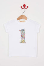 Load image into Gallery viewer, Magnificent Stanley Tee Number White T-Shirt in Kensington Park Liberty Print