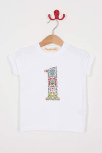 Magnificent Stanley Tee Number White T-Shirt in Kensington Park Liberty Print