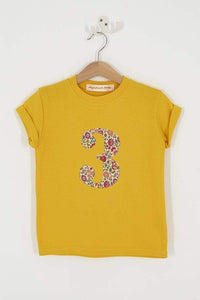 Magnificent Stanley Tee Number Yellow T-Shirt in D'Anjo Liberty Print