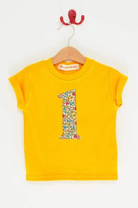 Magnificent Stanley Tee Number Yellow T-Shirt in Emilia's Bloom Liberty Print