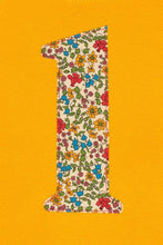 Load image into Gallery viewer, Magnificent Stanley Tee Number Yellow T-Shirt in Emilia's Bloom Liberty Print