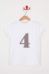 Magnificent Stanley Tee Personalised or Number White T-Shirt in Hunter Truck Liberty Print