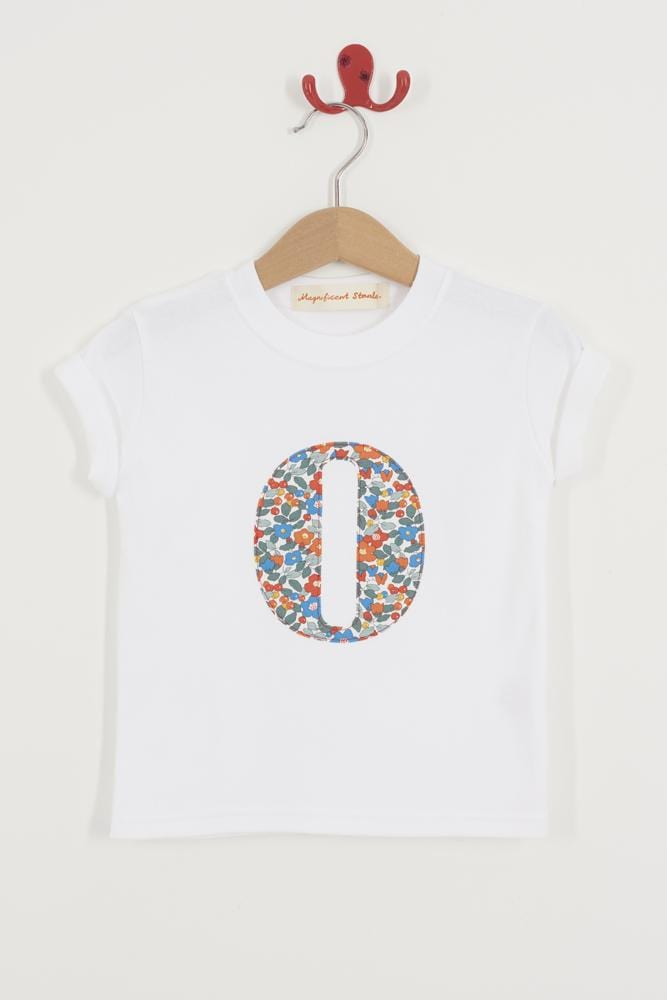 Magnificent Stanley Tee Personalised White T-Shirt in Betsy Berry Liberty Print