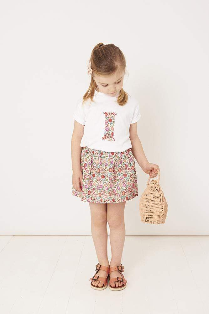 Magnificent Stanley Tee Personalised White T-Shirt in D'Anjo Liberty Print