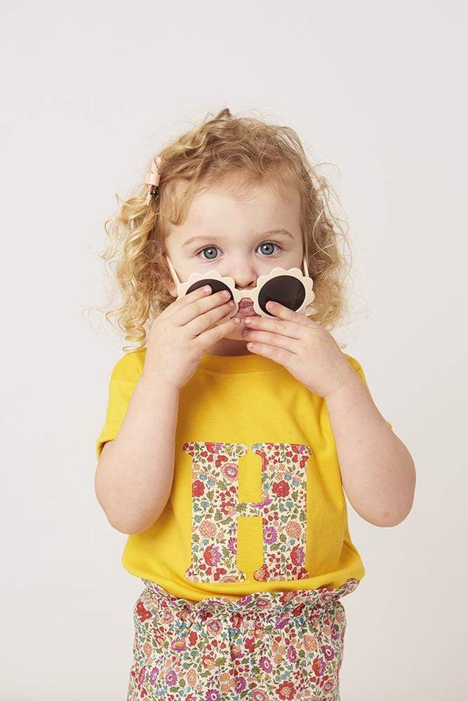Magnificent Stanley Tee Personalised Yellow T-Shirt in D'Anjo Liberty Print