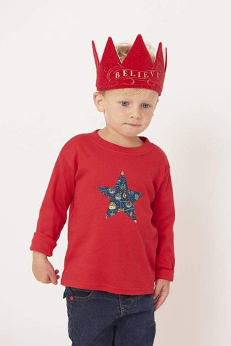 Magnificent Stanley Tee Red Star T-Shirt in House of Gifts Liberty Print