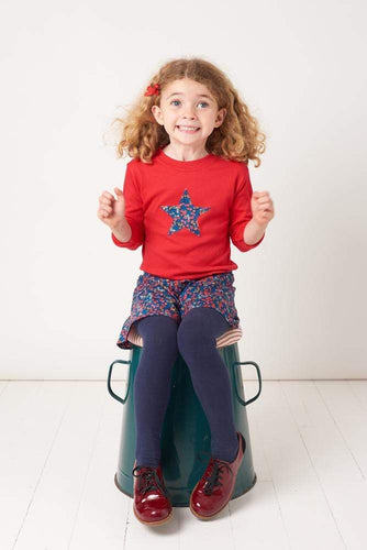 Magnificent Stanley Tee Red Star T-Shirt in Wiltshire Liberty Print