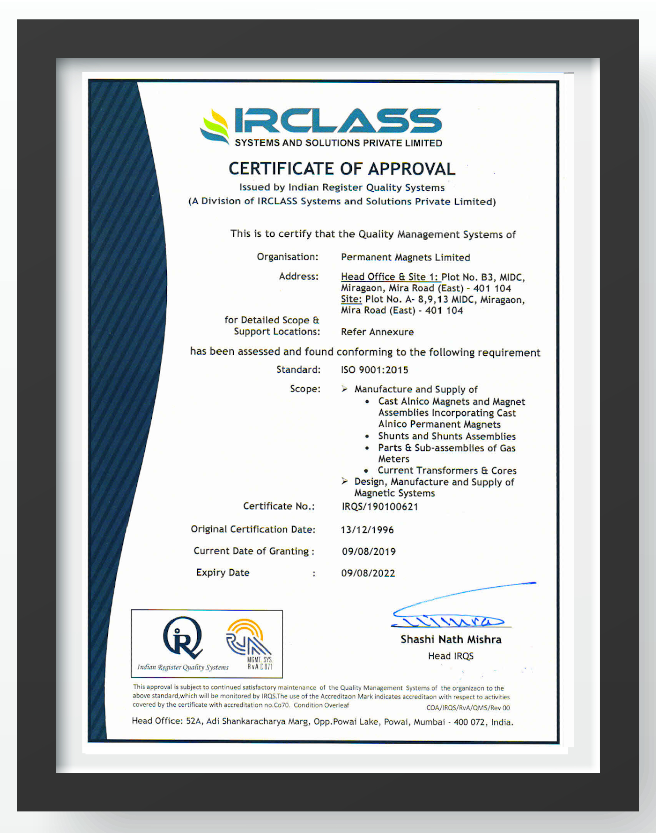 PML QMS ISO 9001:2015Policy