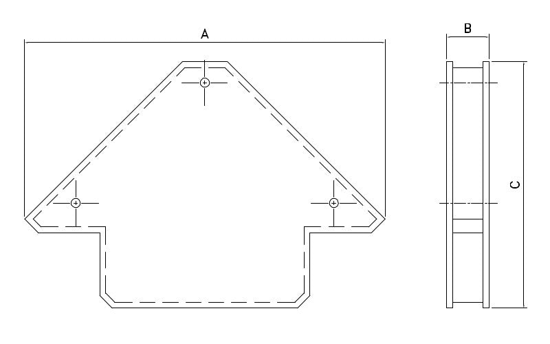 Arrow Type Multi Angle Magnetic Welding Clamps-drawing1