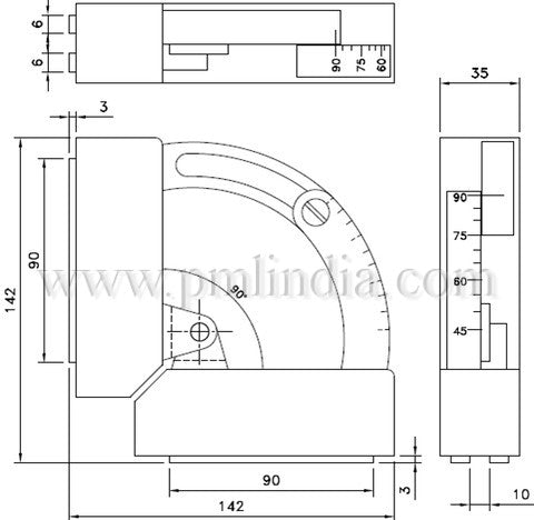 Multi Angle Protractor Magnetic Welding Clamp-drawing