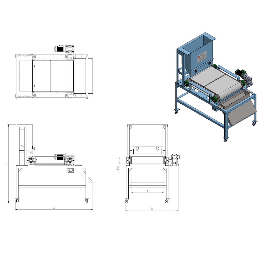 High Intensity Single stage Roll type Magnetic Separator