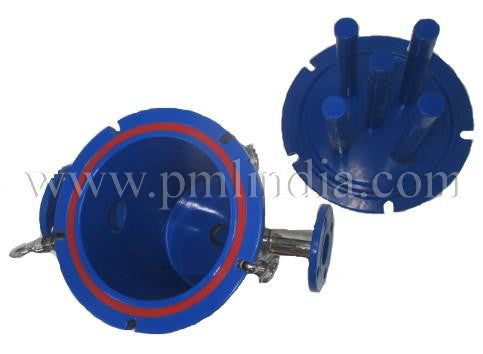Magnetic filter PTFE Coating lid & container inside view