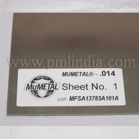 MuMETAL® Stress Annealed Sheet