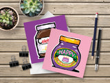Humorous Foodie Birthday cards -  6 card pack - perfect vegetarian or vegan birthday!