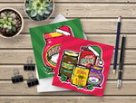 Brighton & Hove Christmas Cards, 6 Pack - Festive Brighton Condiments! Great for the Brighton Lover or Brighton FC fan.