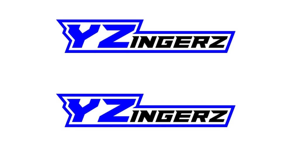YZingerz Black'n Blue Decal X2 (Moto Material)