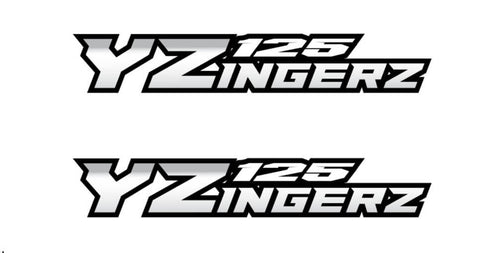 YZingerz YZ125 Swingarm Decal X2