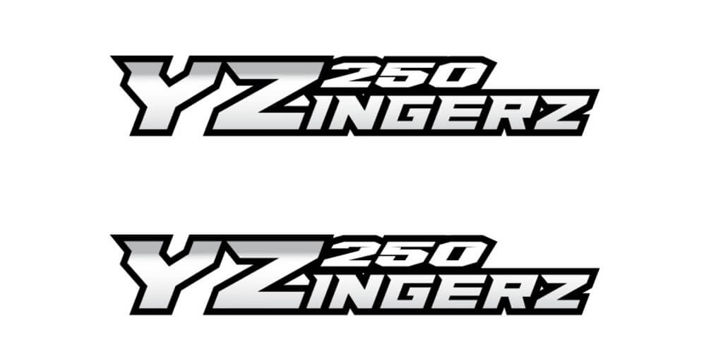 YZingerz YZ250 Swingarm Decal X2
