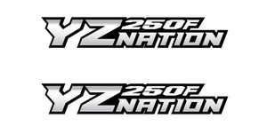 YZnation YZ250F Swingarm Decal X2