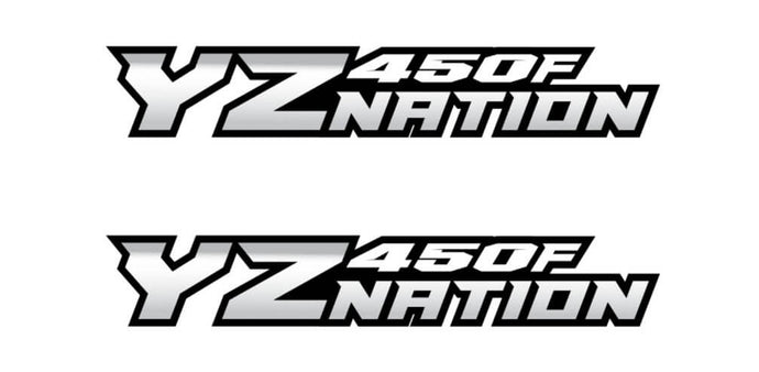 YZnation YZ450F Swingarm Decal X2
