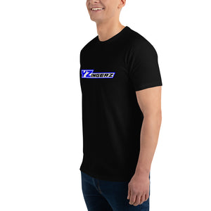 YZingerz 'Black & Blue' Short Sleeve Fitted T-shirt