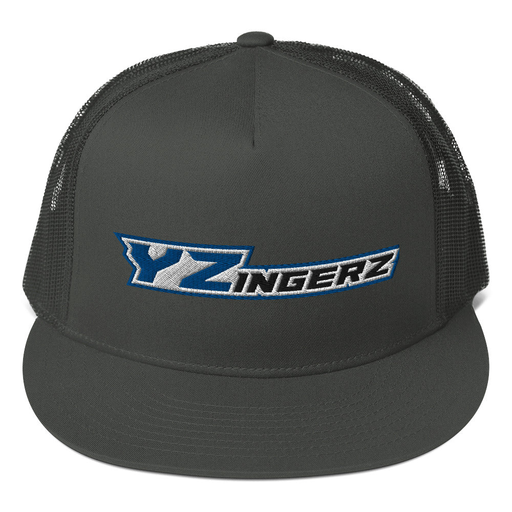 YZingerz 'Black & Blue' Mesh Back Snapback