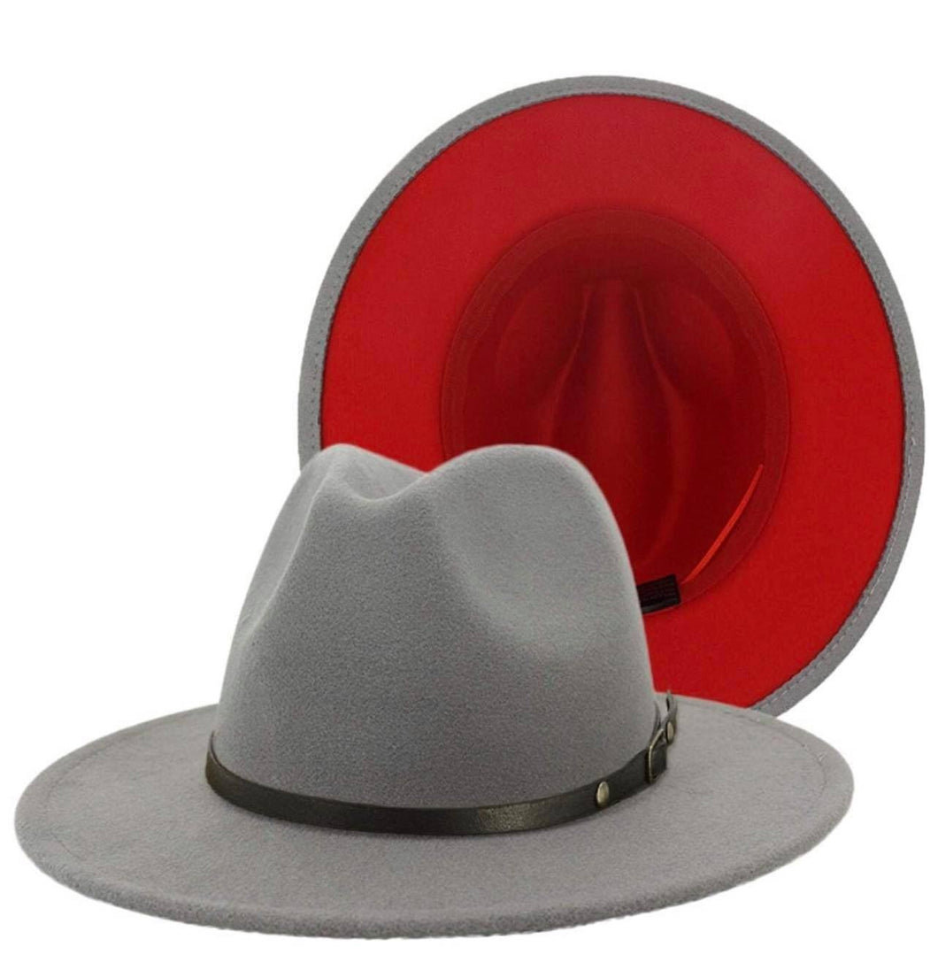 Ms. Grey and Red  Fedora