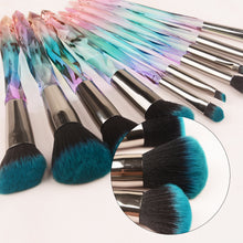 Load image into Gallery viewer, 10 Pcs Crystal Makeup Brush Kit