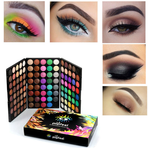 120 Colour Eye Shadow Palette with 6Pcs Eye Brush Set