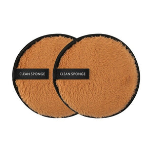 2Pcs Reusable Plush Make Up Pads