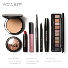 Load image into Gallery viewer, FOCALLURE 8Pcs Cosmetics Makeup Set