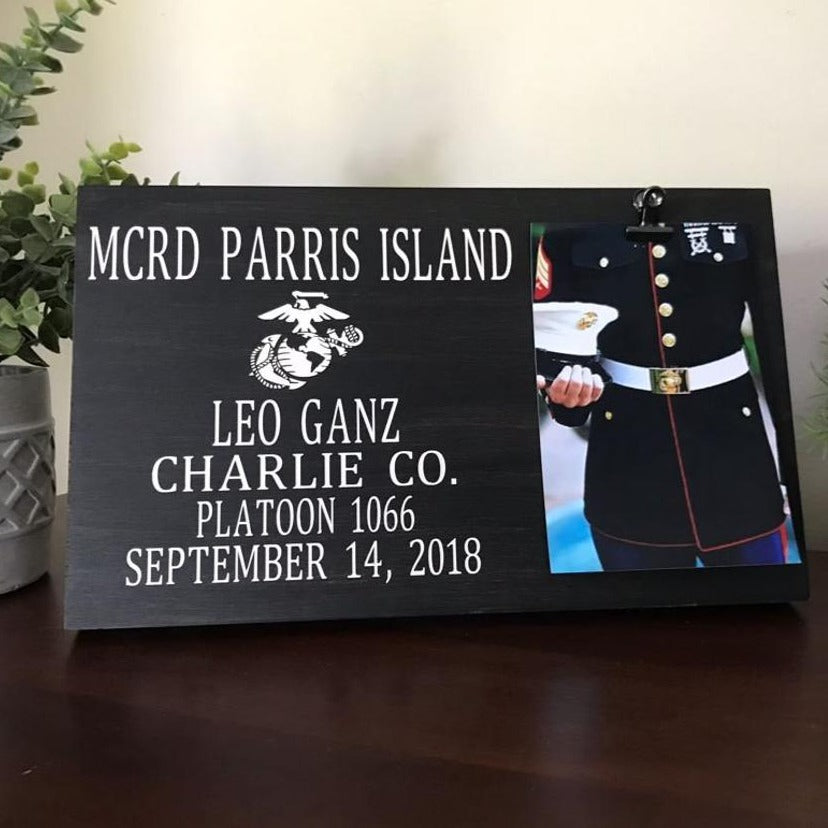 US Marine Corps Picture Frame - The Queen Bee Company
